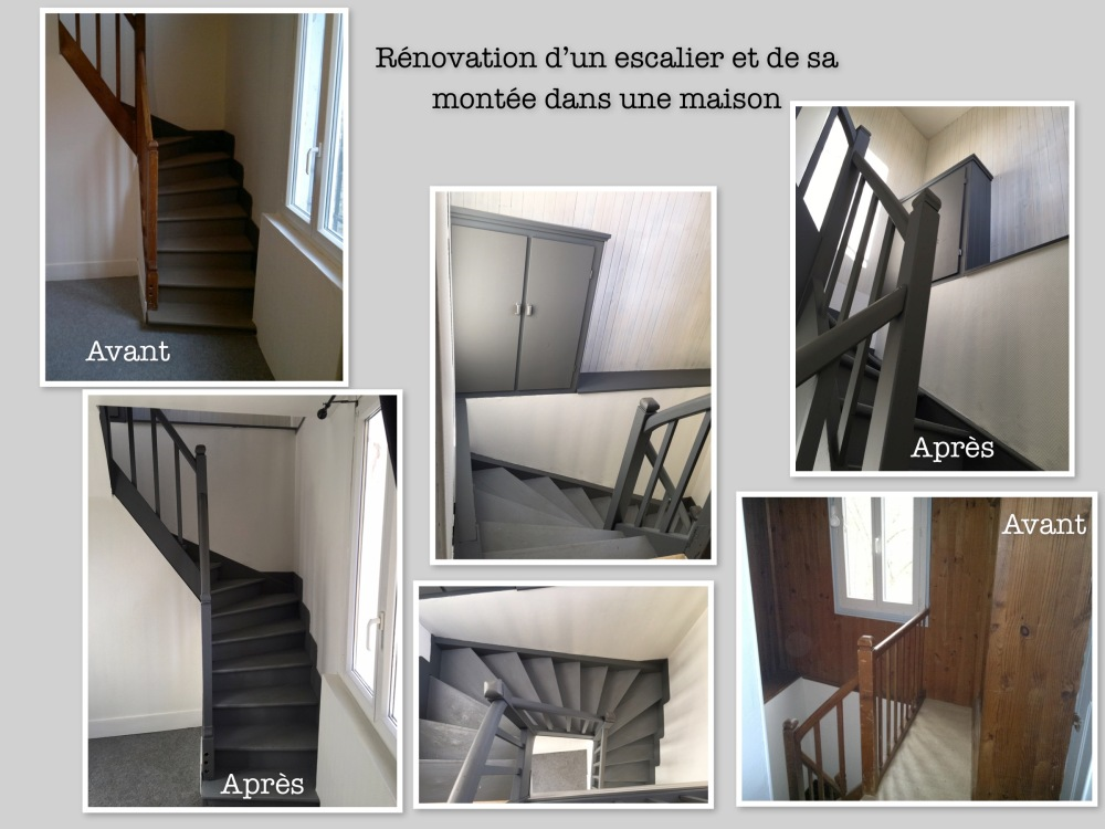 r novation d une cage d escalier la le on d co. Black Bedroom Furniture Sets. Home Design Ideas