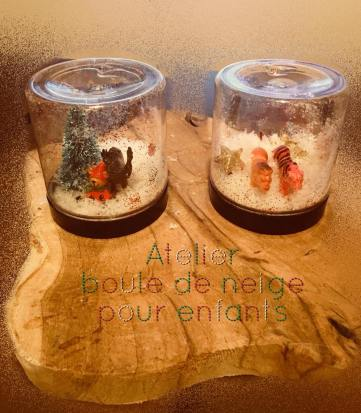 Up cycling : Atelier Boules de neiges enfants