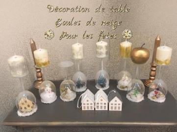 Up cycling : Décorations de table verres renversés